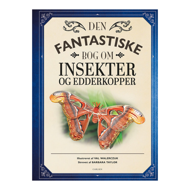 Bog.-Fantastiske-bog-om-Insekter og edderkopper.-Forlaget-Carlsen
