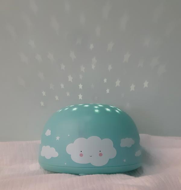 ALLC projektorlampe blaa med kanin