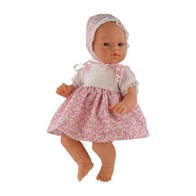 Asi-dukke-Koke-36-cm--blomstret-kjole