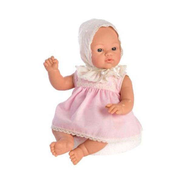 Asi-dukke-Koke-36-cm-lyseroed-kjole-og-sutteflaske