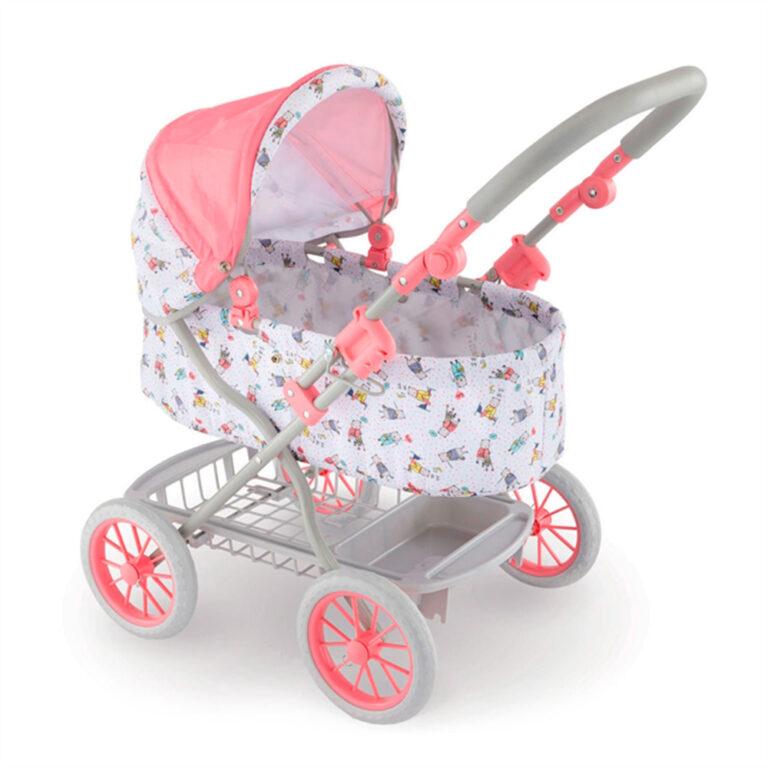Corolle-rosa-dukkevogn