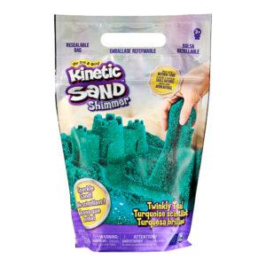 Kinetic-Sand-Grøn-med-glimmer