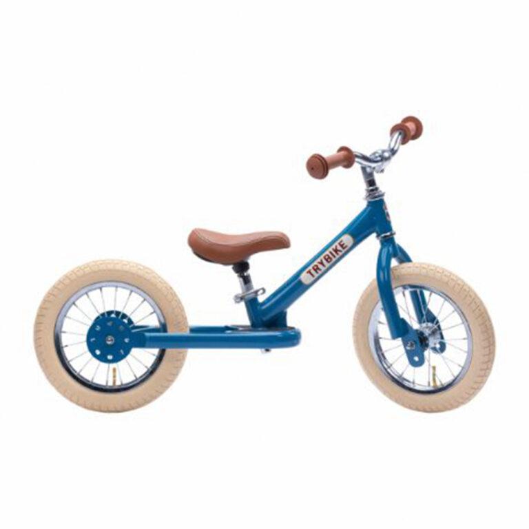 Trybike-2-hjul-Vintage-blaa